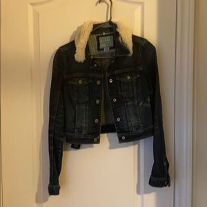 Guess denim jacket with removal sharpa